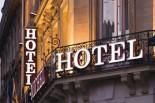 hotel, façade,